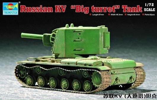 "TRUMPETER Soviet KV ""Big turret"" tank"
