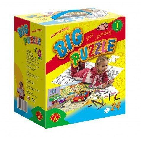 Puzzle Big Puzzle, Dwustronne do kolorowania, 24 elementy