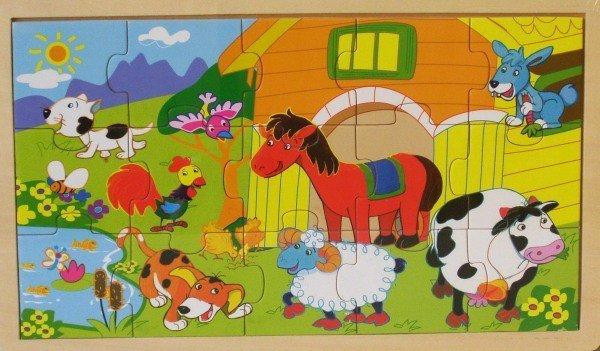 Puzzle drewniane - zwierzęta