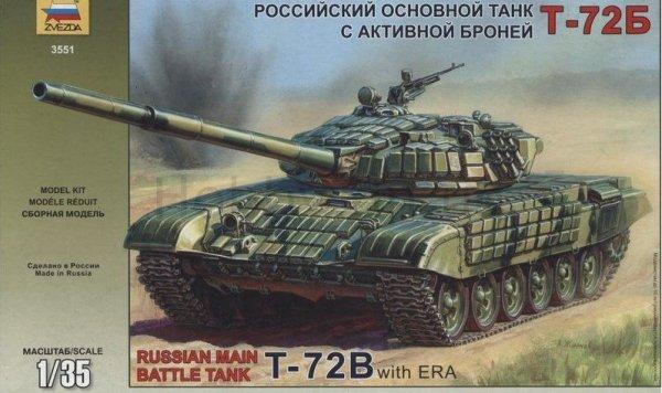 ZVEZDA Russian Main Batt le Tank T-72B
