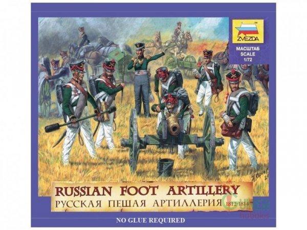 ZVEZDA Russian Foot Arti llery 1812-1814