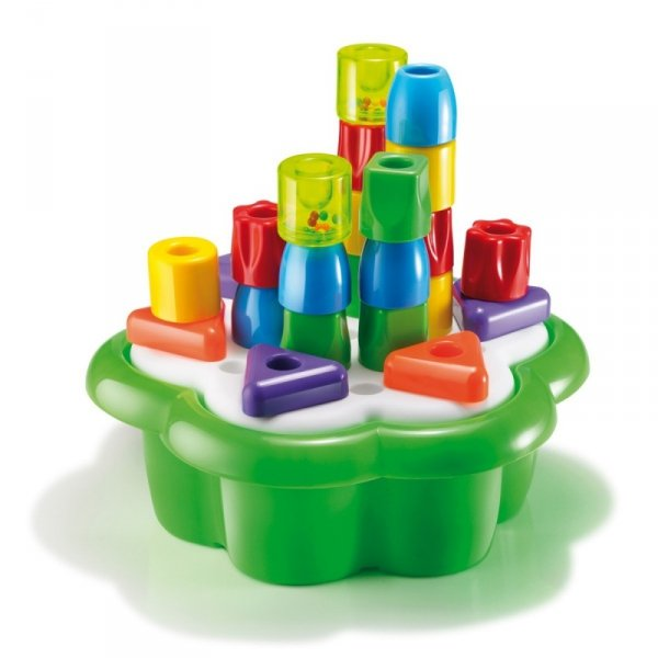 Układanka Daisy box chunky pegs, 28 elementów