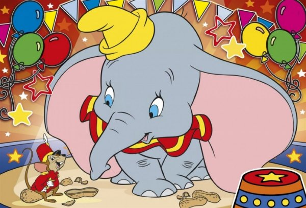 Puzzle 104 elementy Maxi Super Kolor Dumbo