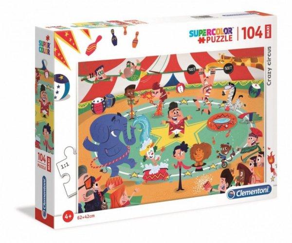 Puzzle 104 elementy Maxi Super Kolor Szalony Cyrk