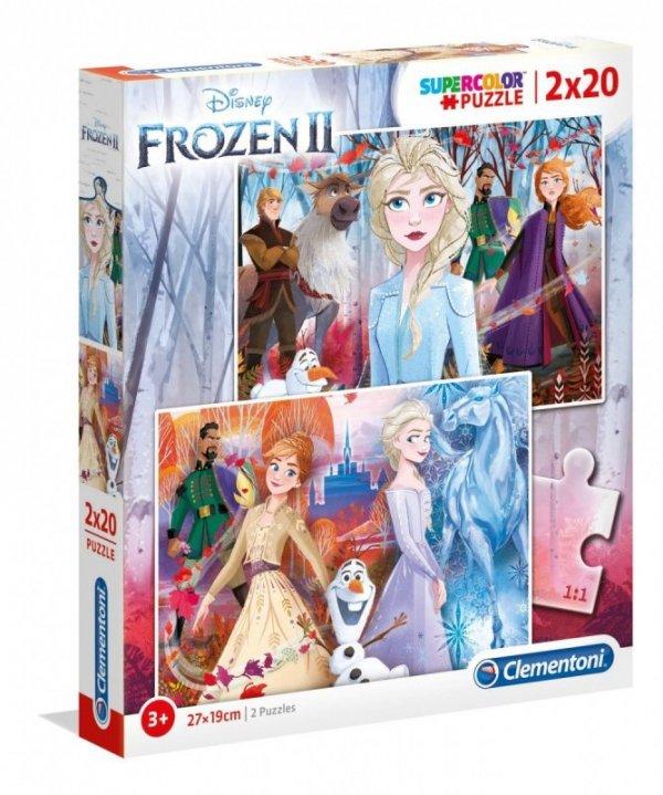 Puzzle 2x20 elementów Super Kolor Kraina lodu 2