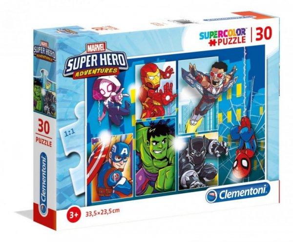 Puzzle 30 elementów SUPER KOLOR Marvel Super Hero