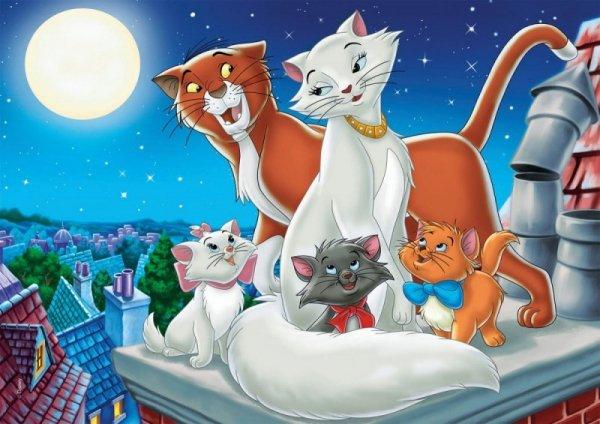 Puzzle 2x20 elementów Super Kolor Disney Animals