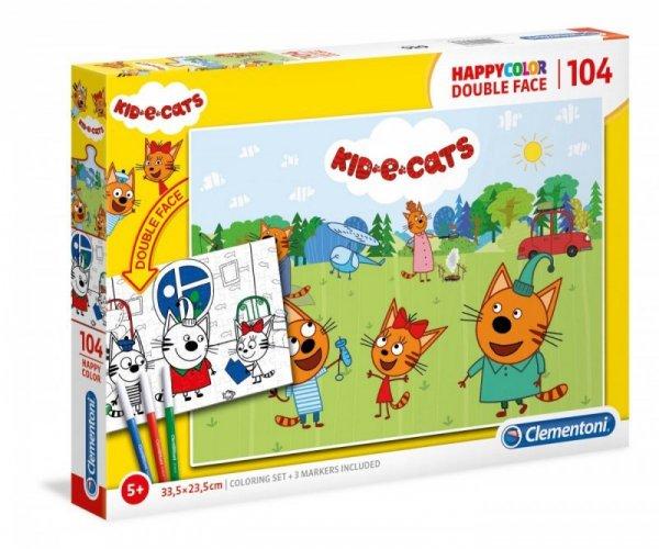 Puzzle 104 elementy Super Kolor Kot o Ciaki