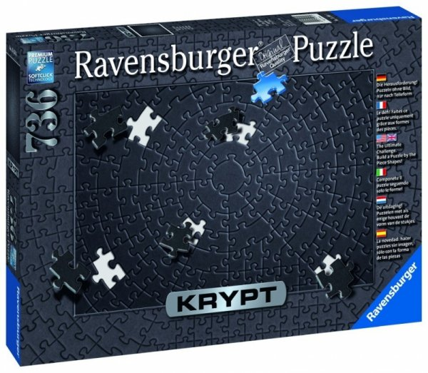Puzzle 736 elementów Krypt Czarne