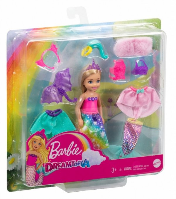 Lalka Barbie Chelsea Przebieranki + ubranka