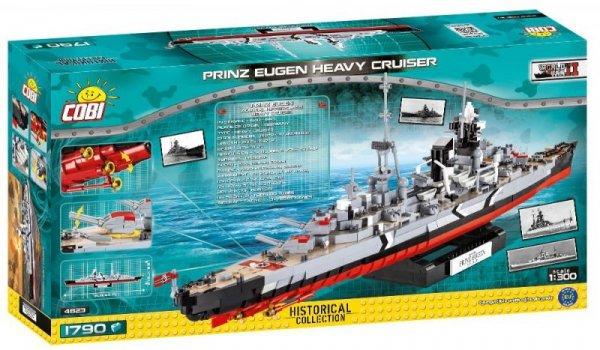 1790 elementów Okręt Prinz Eugen