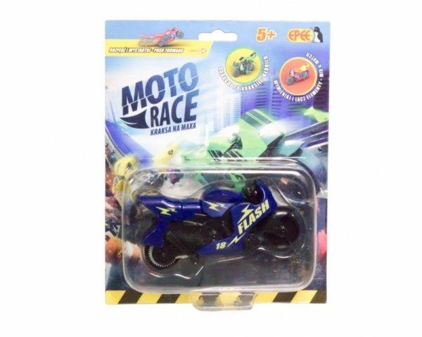 Moto Race - Kraksa na maksa - Motorek 8.5 cm na blisterze. Mix 6 kolorów/ Display 12 sztuk