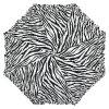 Zebra - długa parasolka z falbanką