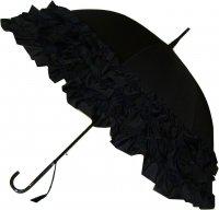 Trzy falbany czarny parasol Boutique Frill
