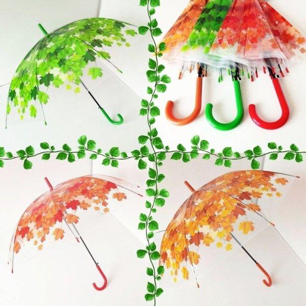 Liście - foliowa parasolka automatyczna LD20