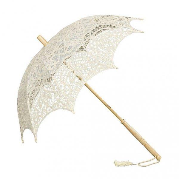 Vivienne parasolka koronkowa ecru Von Lilienfeld