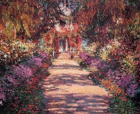 "Claude Monet ""Pathway in Monet's Garden"""