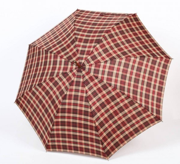 Ciemna kratka  - parasol długi damski Zest 51652
