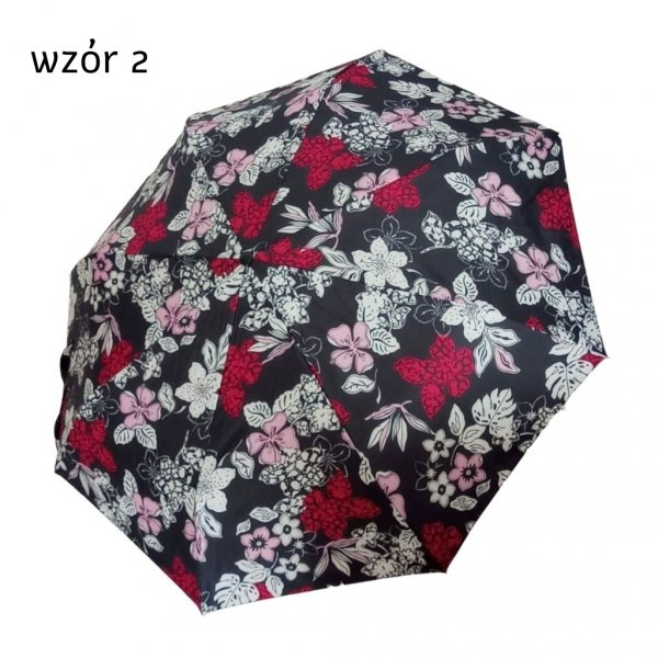 Kwiaty i liście - mini parasolka alu light Gremo