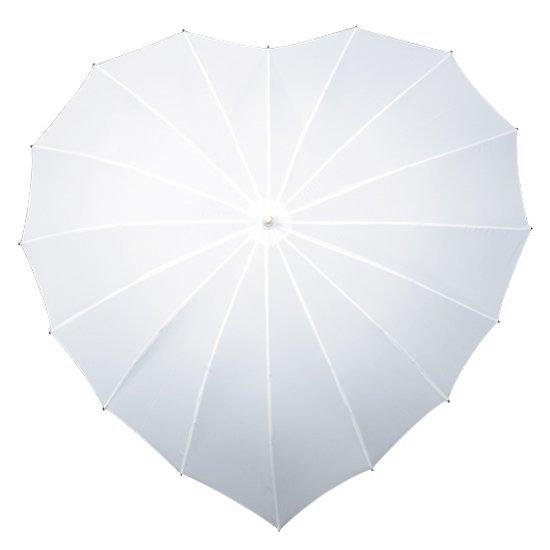 Serce - biały parasol w kształcie serca