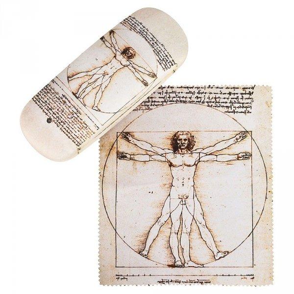 """Leonardo da Vinci """"Człowiek witruwiański"""" - etui na okulary Von Lilienfeld"""