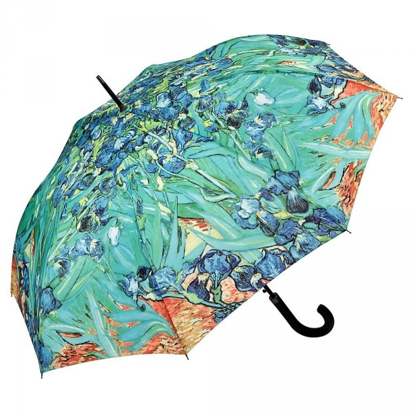 "Vincent van Gogh ""Irysy"" parasol długi ze skórzaną rączką"