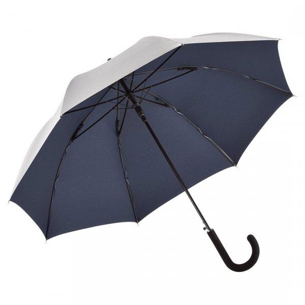 Silver - parasol długi automat z filtrem UV UPF50+