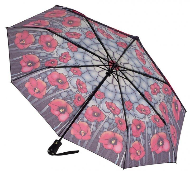Witraż Maki składana parasolka damska Galleria