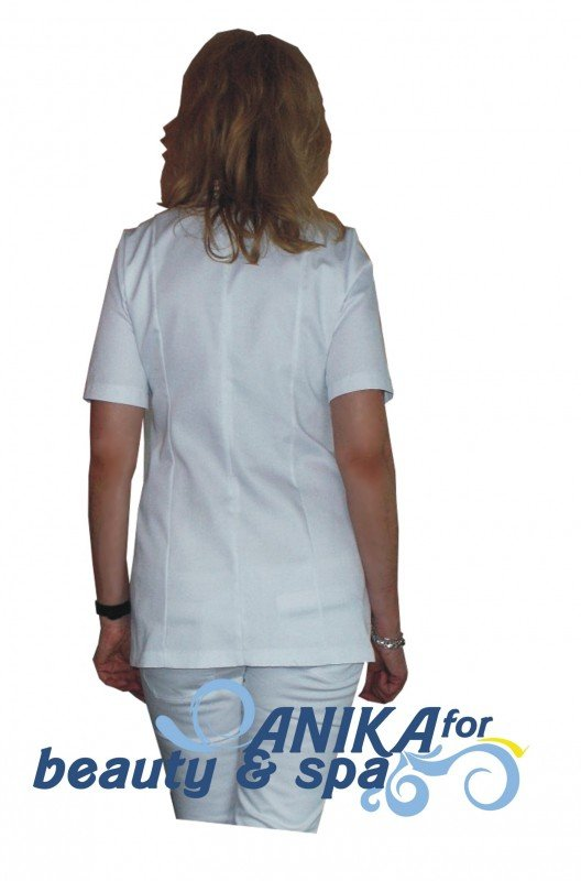 Żakiet kosmetyczny Mona Plus biały rozmiar 42