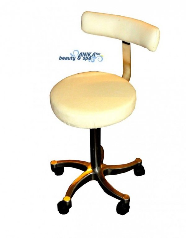 Pokrowce kosmetyczne na krzesełko z oparciem II welur biały