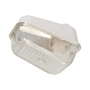 7041S, oprawa oświetleniowa, 60W, E27, IP54, IK10, klosz poliwęglan, podstawa bakelitowa