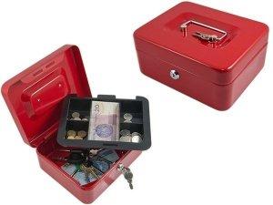 AG117B Kasetka na pieniądze czerwona
