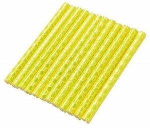 AG402B Odblask. rurki na szprychy yellow