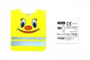 01737 Kamizelka ostrzegawcza dziecięca żółta SVK-04 z certyfikatem