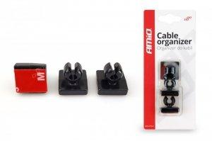 Uchwyt, organizer kabli 3 szt - silikonowy