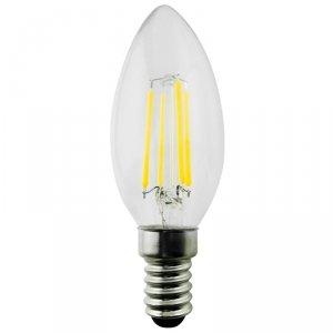 Żarówka Maclean, Filamentowa LED E14, 4W, 230V, WW ciepła biała 3000K, 400lm, Retro edison ozdobna świeczka C35, MCE285