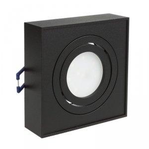 Punktowa oprawa sufitowa Maclean, dla źródeł światła MR16/GU10, kolor czarny, 94x94x32mm, kwadratowa, alu, MCE464 B
