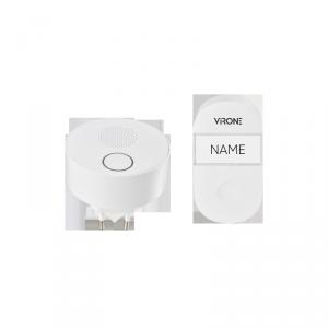 Dzwonek bezprzewodowy  SONUS AC, sieciowy, przycisk bezbateryjny, learning system, 38 dźwięków, 100m