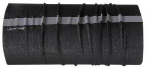 L1030300 Chusta wielofunkcyjna czarna z pasem odblaskowym