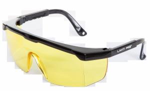 Okulary ochronne żółte regul., odporność mech. f, ce,lahti