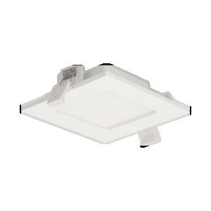 AKMAN LED 9W, oprawa downlight, podtynkowa, kwadratowa, 480lm, 4000K, biała, wbudowany zasilacz LED