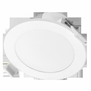 AURA LED 9W, oprawa  downlight, podtynkowa,  4000K, biała, wbudowany zasilacz LED