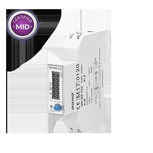 1-fazowy licznik energii elektrycznej, 100A, MID, 1 moduł, DIN TH-35mm