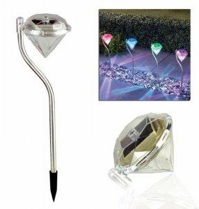 ZD50A Ogrodowa lampa solarna rgb diament