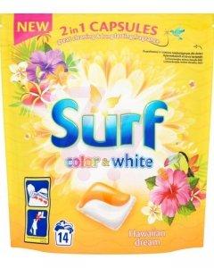 SURF Kapsułki do prania Hawajski Kolor& Biały 14szt
