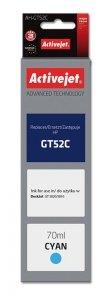 Tusz Activejet AH-GT52C (zamiennik HP GT52C M0H54AE; Supreme; 70 ml; niebieski)