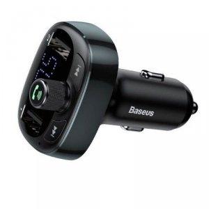 Transmiter FM do gniazda samochodowej zapalniczki Baseus CCTM-01 (MicroSD, USB 2.0)