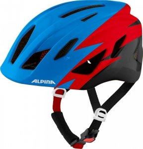 Kask rowerowy ALPINA PICO niebiesko-czerwono-czarny płysk 50-55 new 2021