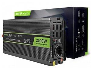 GREEN CELL PRZETWORNICA INV10 12V-230V 2000W/4000W MODYFIKOWANA SINUSOIDA