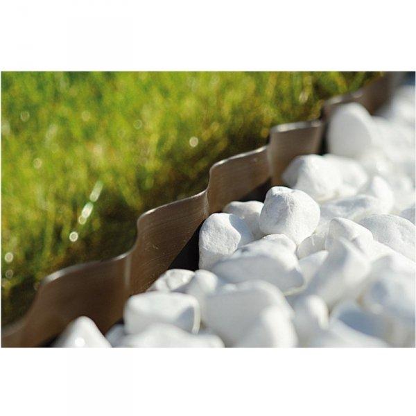 Obrzeże ogrodowe faliste 15cm x 9m Cellfast brązowe